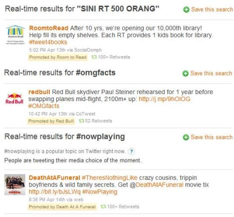 Twitter kicks off promoted tweets